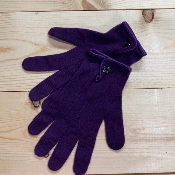 Hermes vintage 100% cashmere gloves xl